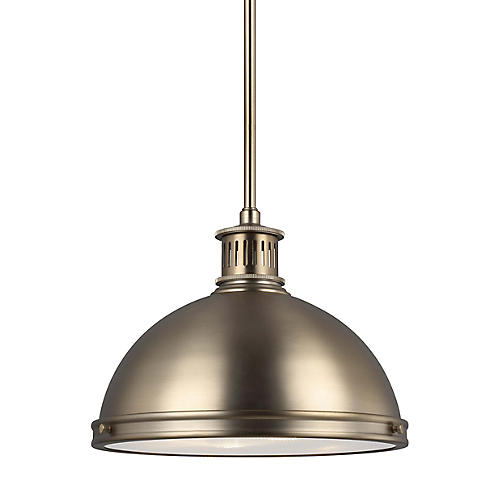 Pratt Street 2-Light Pendant, Satin Bronze