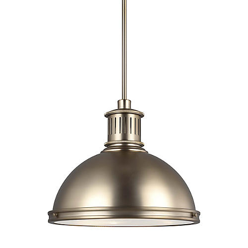 Pratt Street 3-Light Pendant, Satin Bronze