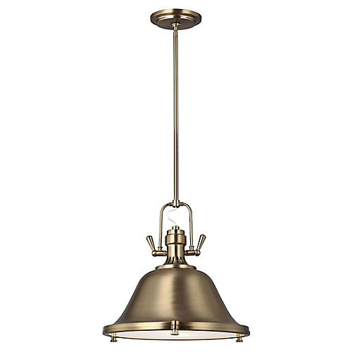Stone Street 2-Light Pendant, Satin Bronze