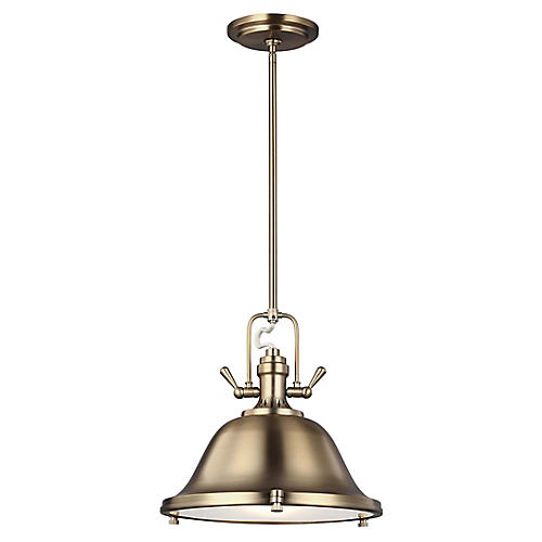 Stone Street 3-Light Pendant, Satin Bronze