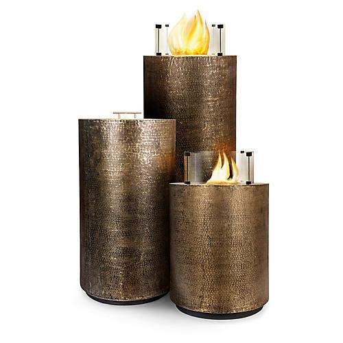 S/3 Aztec Fire Tables, Brown/Bronze