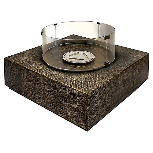 Inca Fire Table, Brown/Bronze