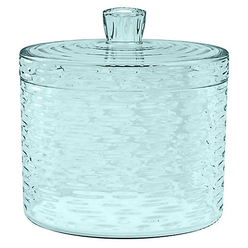 "7"" Icicle Treat Jar, Aqua"
