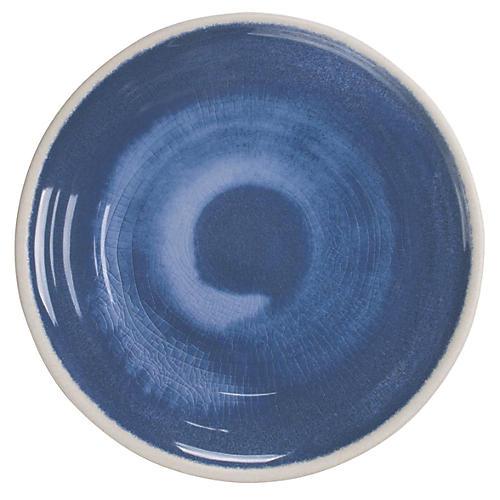 S/6 Duval Salad Plates, Blue