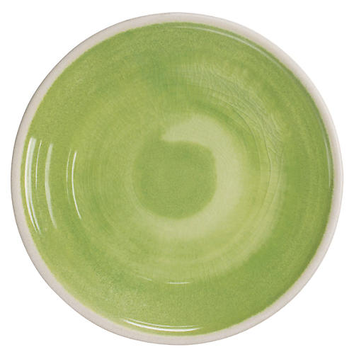 S/6 Duval Salad Plates, Green