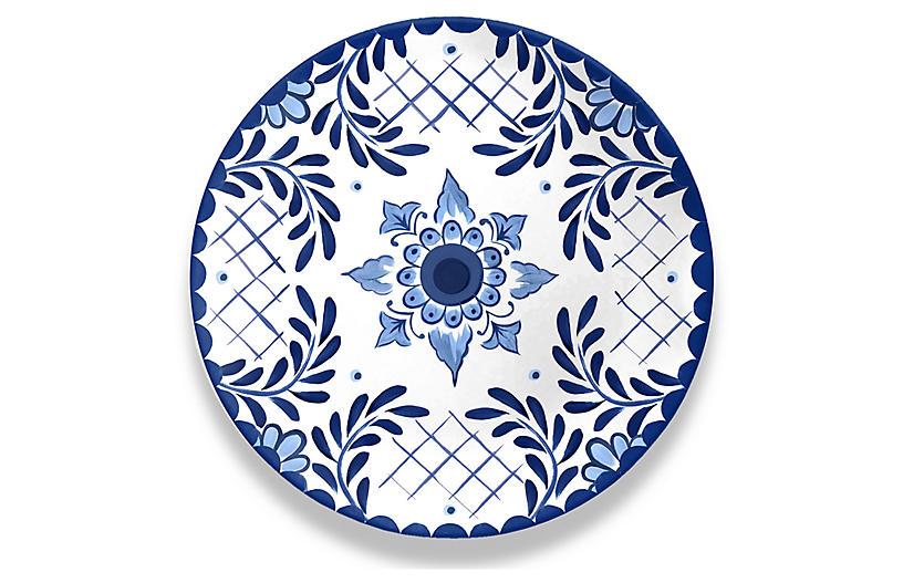 S/6 Cypress Dinner Plates, Blue/White