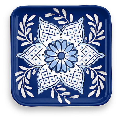 S/4 Hank Coasters, Blue/White