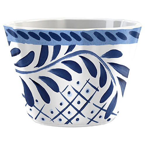 S/6 Everson Dip Bowls, Blue/White