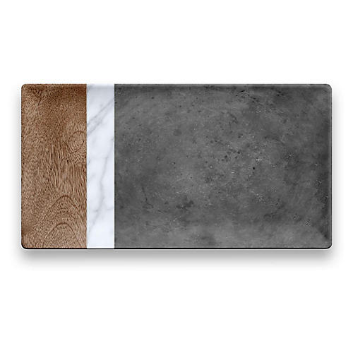 Costas Serving Tray, Gray/Multi