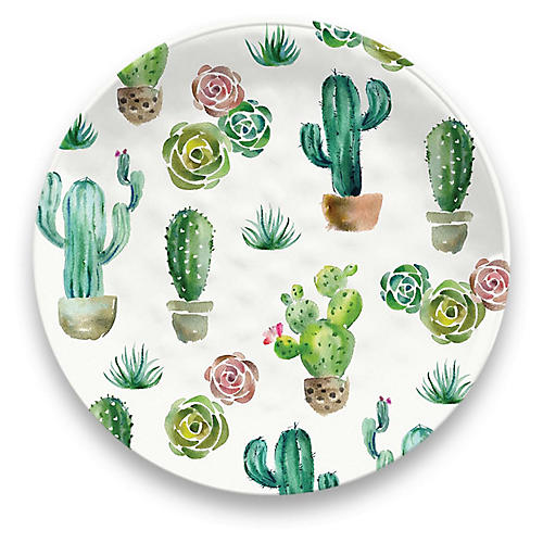 S/6 Sewell Dinner Plates, White/Multi