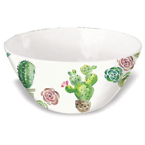 S/6 Sewell Bowls, White/Multi