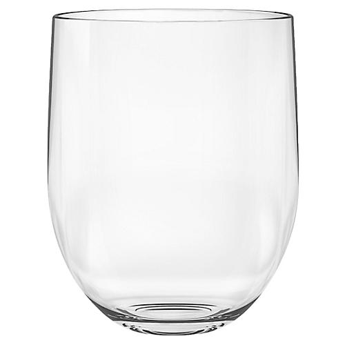 S/6 Stemless Acrylic Wineglasses, Clear