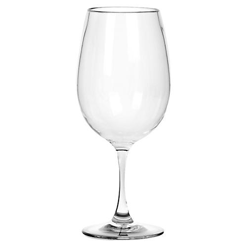 S/6 Cocktail Classic Acrylic Wineglasses, Clear