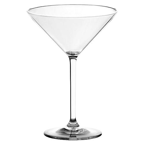 S/6 Acrylic Martini Glasses, Clear