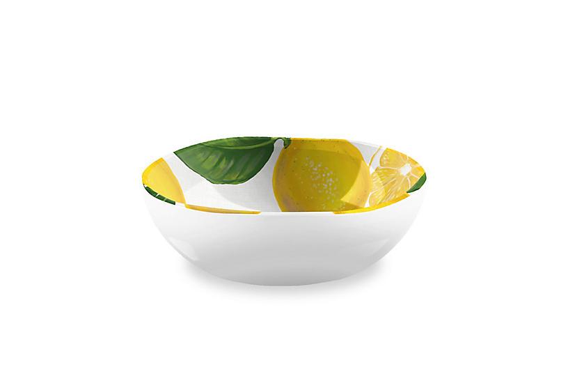 S/6 Lemon-Fresh Melamine Cereal Bowl, Multi