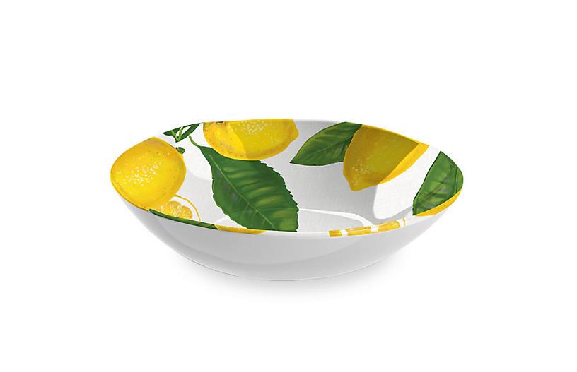 Lemon-Fresh Melamine Serving Bowl, Multi