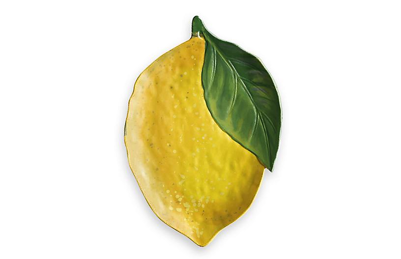 Lemon-Fresh Melamine Figural Platter, Multi