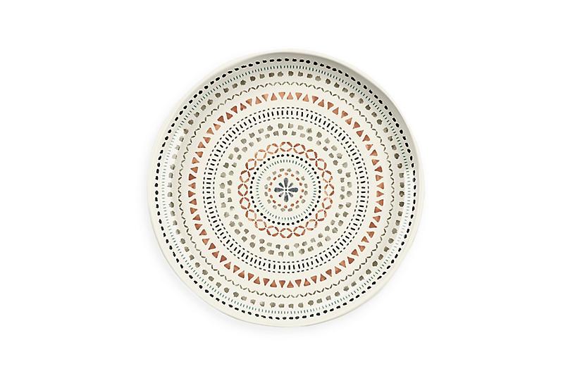 S/6 Planta Matte Desert Mandala Salad Plate, Multi