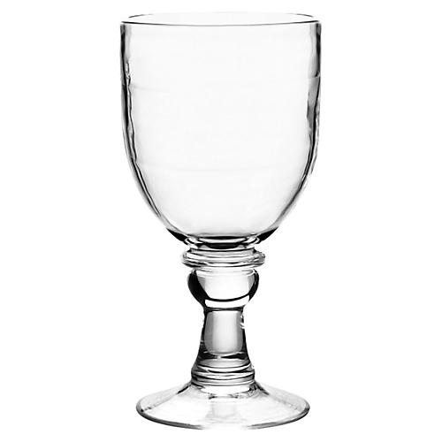S/6 Cordoba Acrylic Goblets, Clear