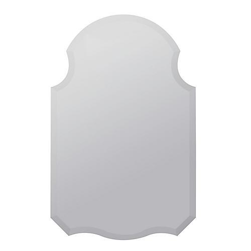 Branwen Beveled Wall Mirror, Silver