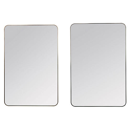 Somerset Wall Mirrors, Bronze