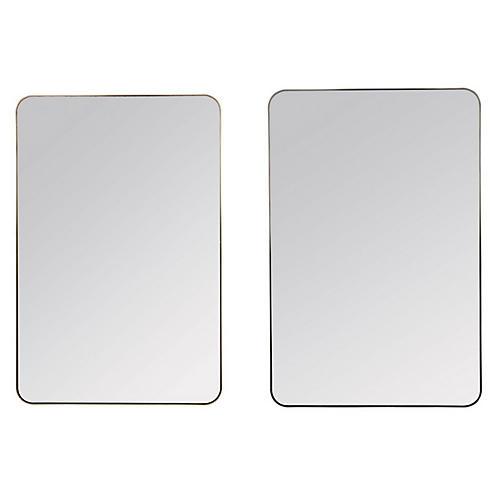 Somerset Wall Mirrors, Matte Black