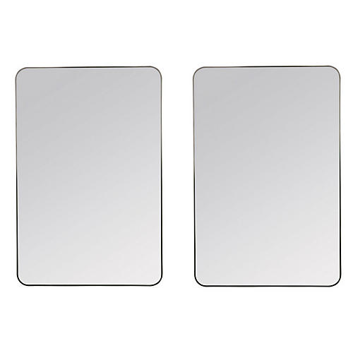 Franco Wall Mirrors, Matte Black