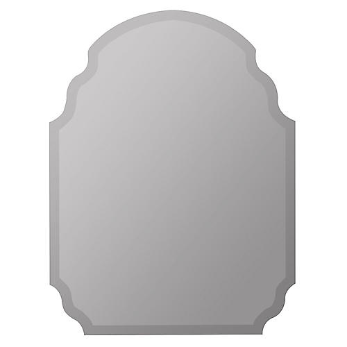 Everson Wall Mirror, Mirror/Silver