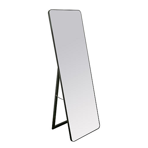 Endicott Floor Mirror, Black