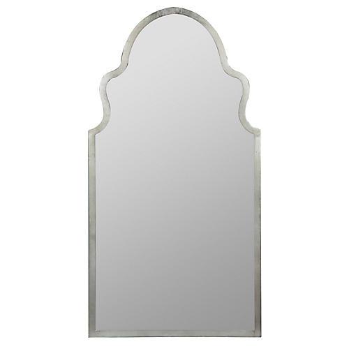 Leighton Wall Mirror, Silver
