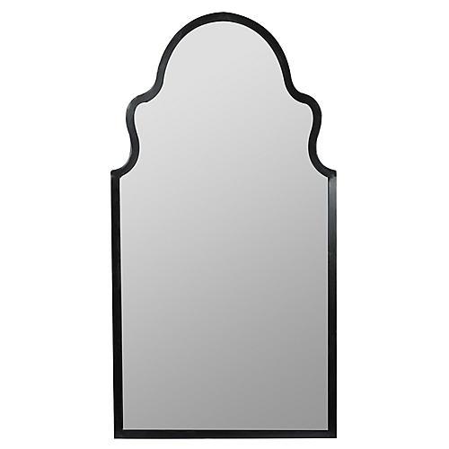 Leighton Wall Mirror, Black