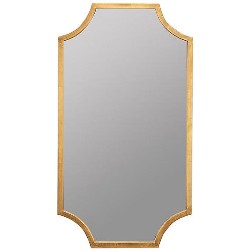 Palouse Wall Mirror, Gold Leaf