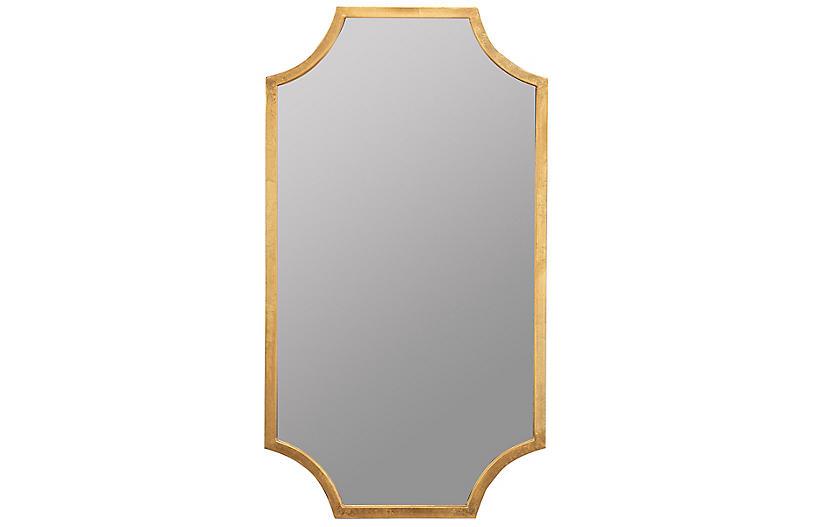 Palouse Wall Mirror, Gold Leaf