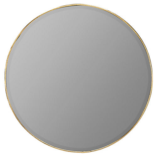 Redmond Wall Mirror, Gold Leaf