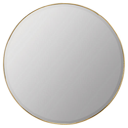 Ruston Wall Mirror, Gold Leaf