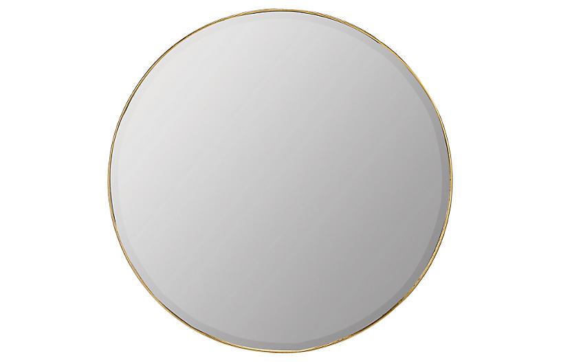 Ruston Wall Mirror, Gold Leaf