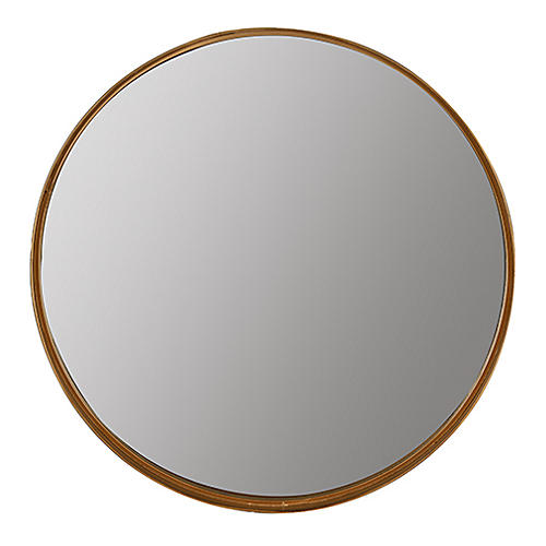Vianna Round Shelf Wall Mirror, Gold