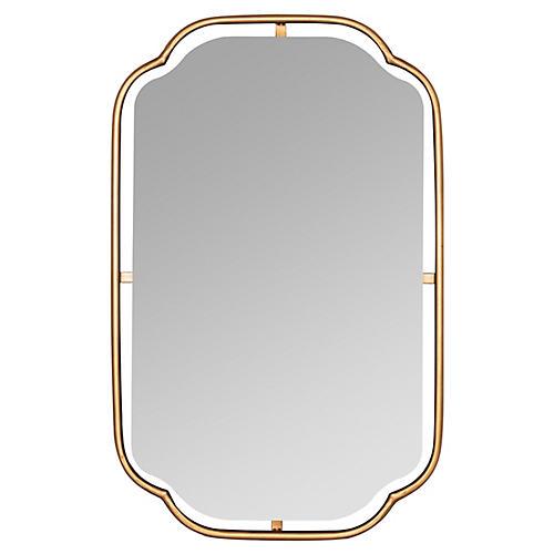 Madix Wall Mirror, Gold