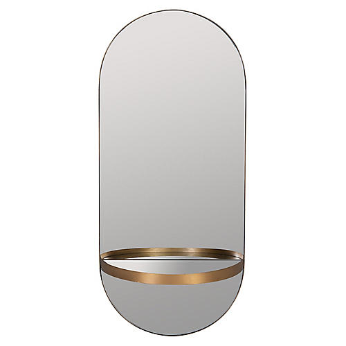 Fillmore Shelf Mirror, Gold