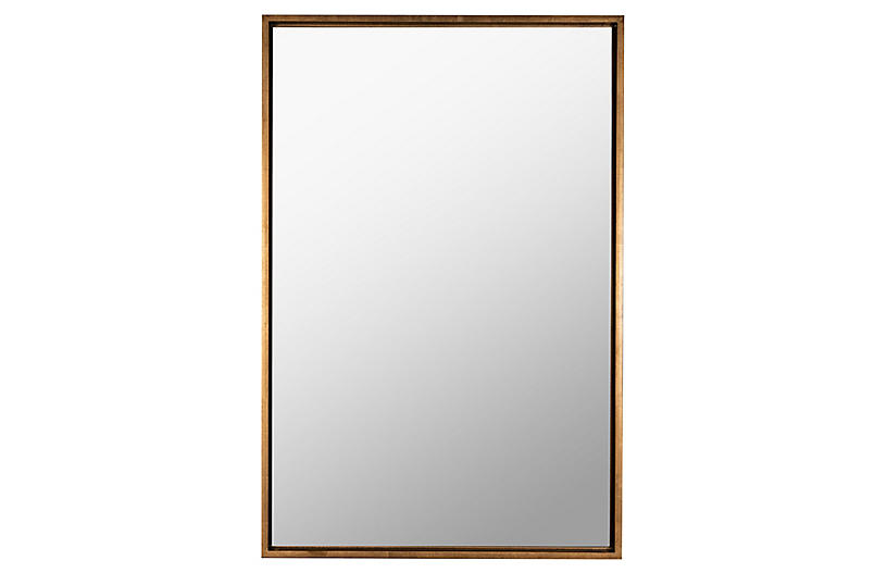 Oswyn Rectangular Wall Mirror, Gold