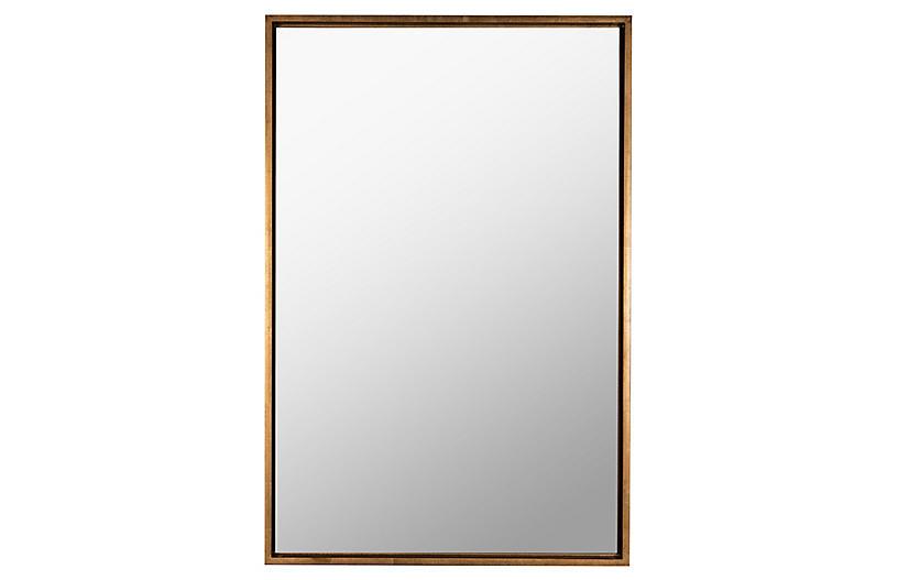 Oswyn Rectangular Wall Mirror, Gold