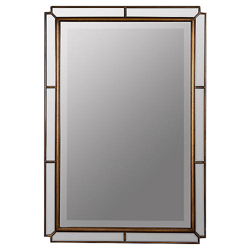 Barnaby Rectangular Wall Mirror, Bronze