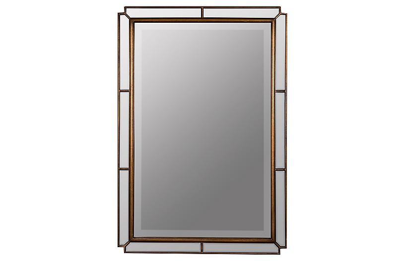 Barnaby Rectangular Wall Mirror, Bronze