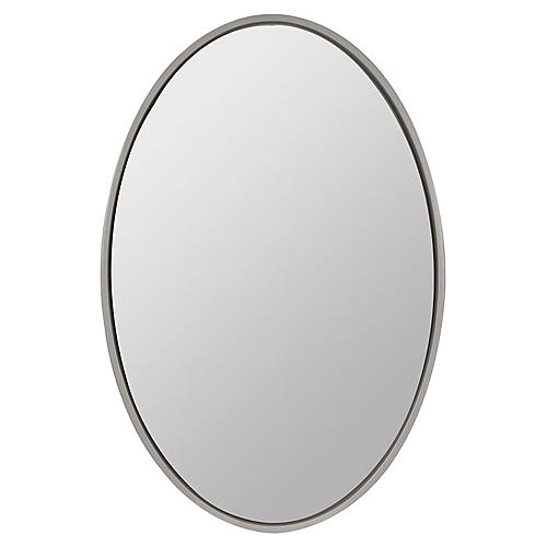 Roland Oval Wall Mirror, White