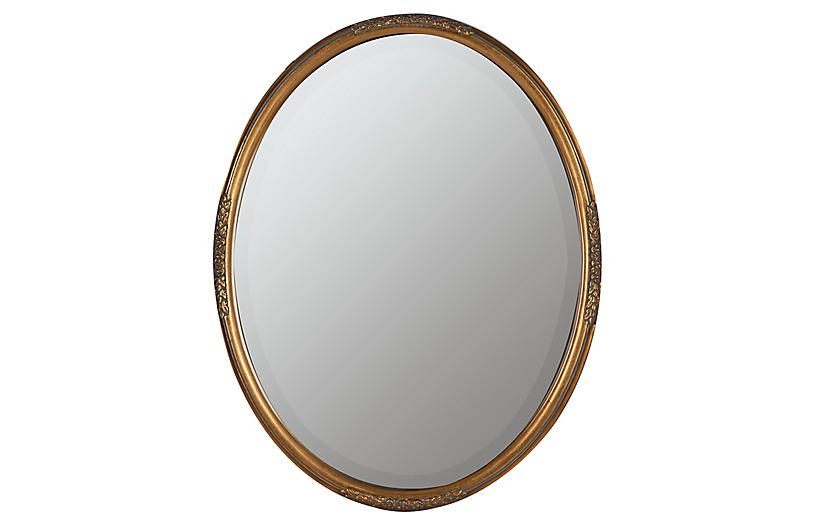 Jones Wall Mirror, Gold Finish