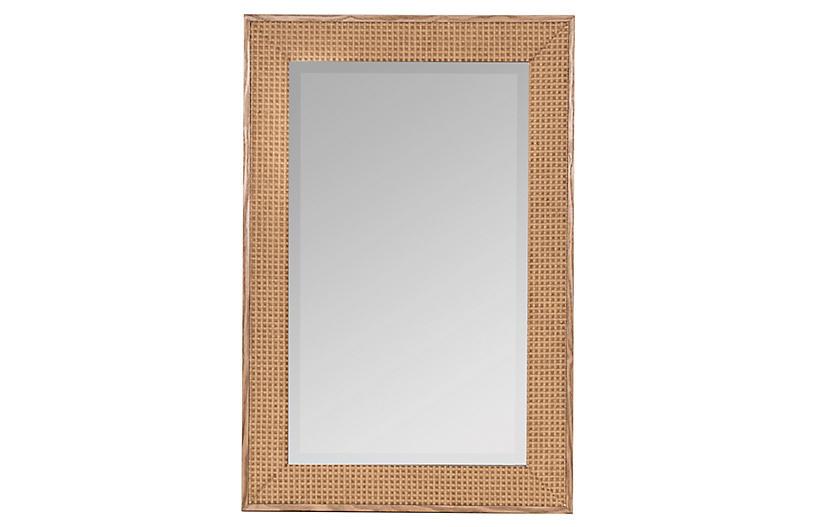Lala Wall Mirror, Natural Wood