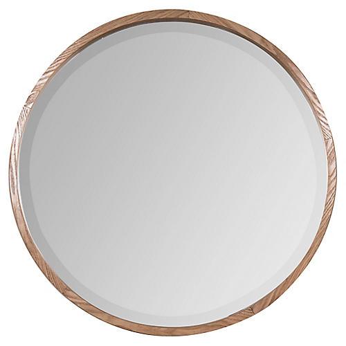 Dana Wall Mirror, Light Wooden Finish