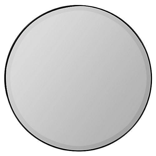 Nahma Wall Mirror, Black Matte