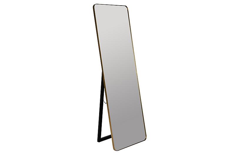 Endicott Floor Mirror, Gold