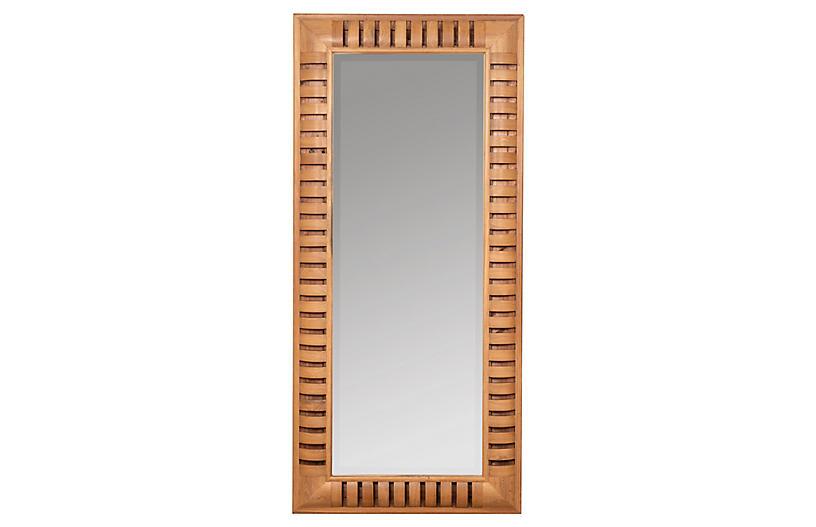 Scheana Floor Mirror, Natural Wood